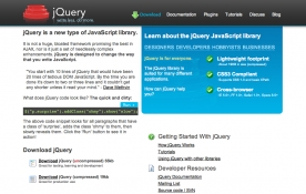 jQuery Site Screenshot